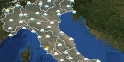 Le previsioni del tempo per domenica 26 novembre