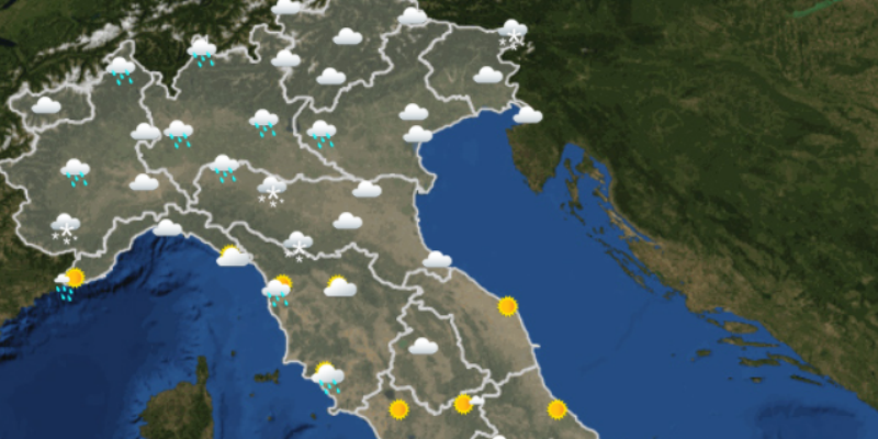 Il meteo di domani venerd 1 dicembre in italia - Meteo bagno di romagna domani ...