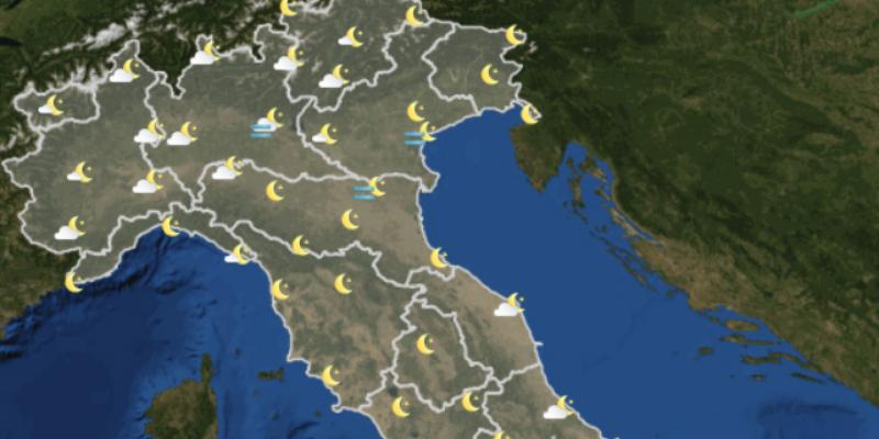 Il meteo in Italia per domani, martedì 28 novembre