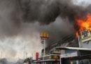 C'è stato un incendio in un centro commerciale di Davao, nelle Filippine, si pensa che 37 persone siano morte