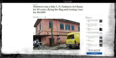La falsa storia della falsa ambasciata americana in Ghana