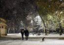 Le foto della prima neve a Milano