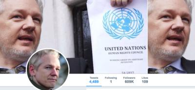 L'account di Julian Assange su Twitter non c'è più