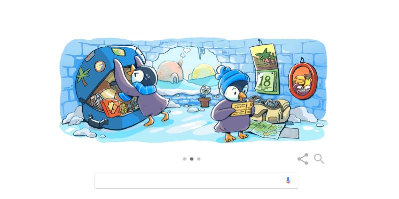 quotbuone festequot il doodle di google per le feste di natale