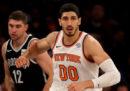 La procura turca ha chiesto quattro anni di reclusione per Enes Kanter, centro dei New York Knicks