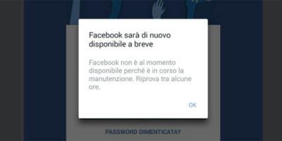 Facebook e Instagram non funzionano per molti utenti