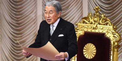 L'imperatore del Giappone abdicherà il 30 aprile 2019