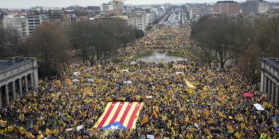 C'è stata una grande manifestazione per la Catalogna, però in Belgio