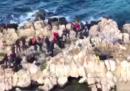 51 migranti che provavano a raggiungere la Grecia sono stati salvati su uno scoglio a largo della Turchia