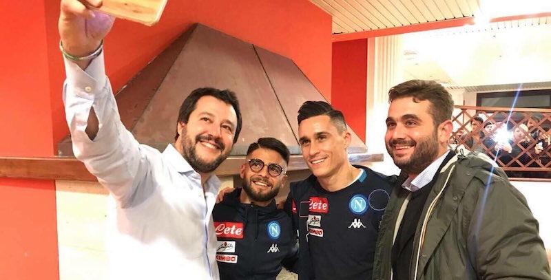 Salvini con Insigne e Callejon, comunicato del Napoli: