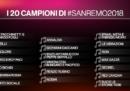 Sanremo 2018: i nomi dei 20 cantanti in gara