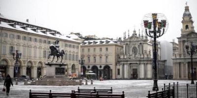 Le foto della prima neve a Torino