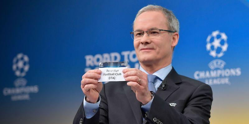 La Juventus è stata la prima estratta nei sorteggi di Champions League. Foto: FABRICE COFFRINI/AFP/Getty Images.