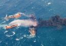 La petroliera iraniana che si era scontrata con una nave cargo al largo della Cina è affondata