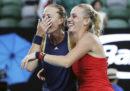 La tennista francese Kristina Mladenovic e l'ungherese Timea Babos hanno vinto la finale di doppio femminile degli Australian Open