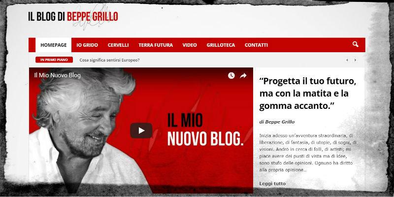 Ufficiale: Grillo si separa da Casaleggio. Ecco il suo nuovo blog