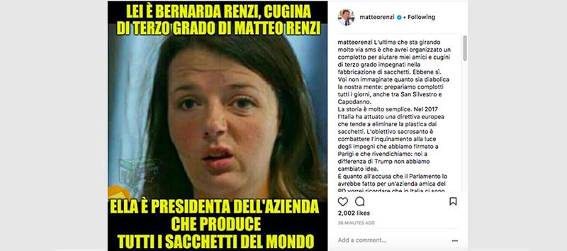 La risposta di Matteo Renzi sui sacchetti e i complotti - Il Post