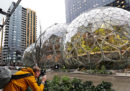 Amazon ha costruito tre sfere giganti a Seattle