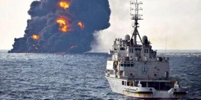 Le chiazze di petrolio nel Mar cinese orientale sono diventate enormi