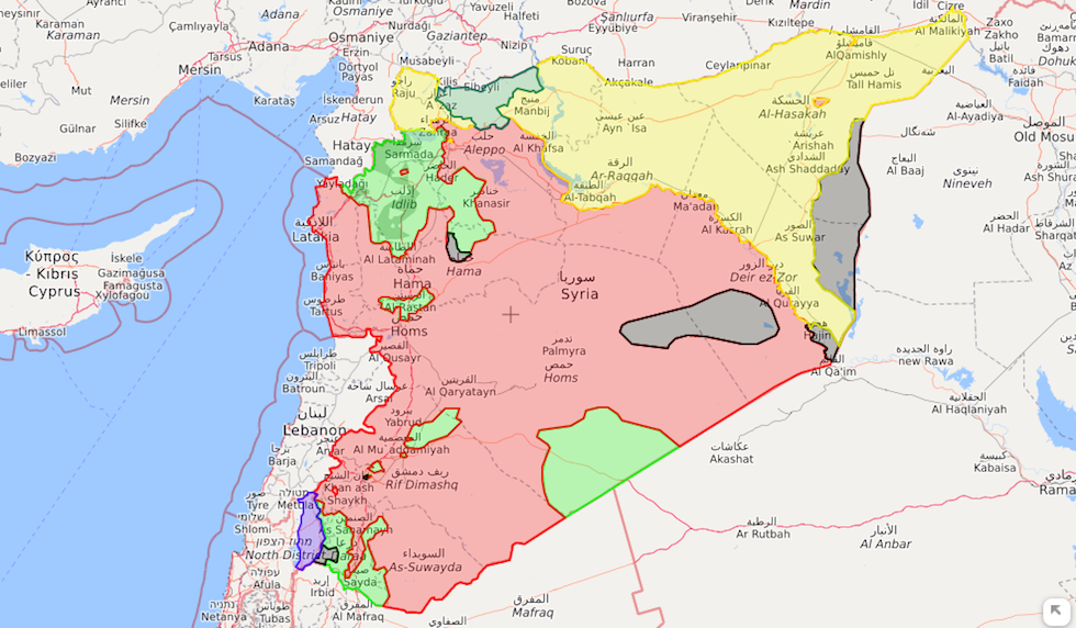 Risultati immagini per mappa della siria