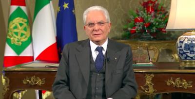 Il video del discorso di fine anno di Sergio Mattarella