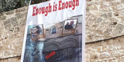 Le Chiese chiudono per protesta il Santo Sepolcro