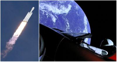 Il primo storico lancio del Falcon Heavy