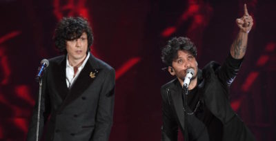 Ermal Meta e Fabrizio Moro, che sono ancora in gara a Sanremo