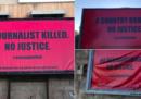 """Anche a Malta hanno appeso dei cartelloni come quelli di """"Tre manifesti a Ebbing, Missouri"""""""