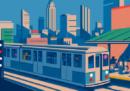 Storia disegnata della mappa della metro di New York