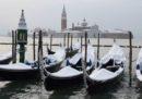 Le foto di Venezia con la neve