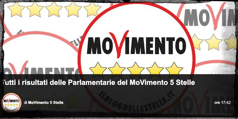 """I voti presi da ciascun candidato del Movimento 5 Stelle alle """"parlamentarie"""" - Il Post"""