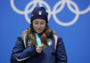 Sofia Goggia ha vinto la medaglia d'oro nella discesa libera
