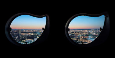 Parigi vista dalle finestre di una torre