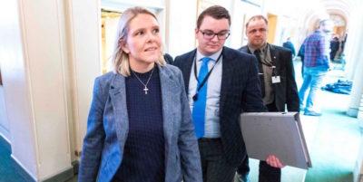 Si è dimessa la ministra della Giustizia norvegese Sylvi Listhaug, per evitare una crisi di governo