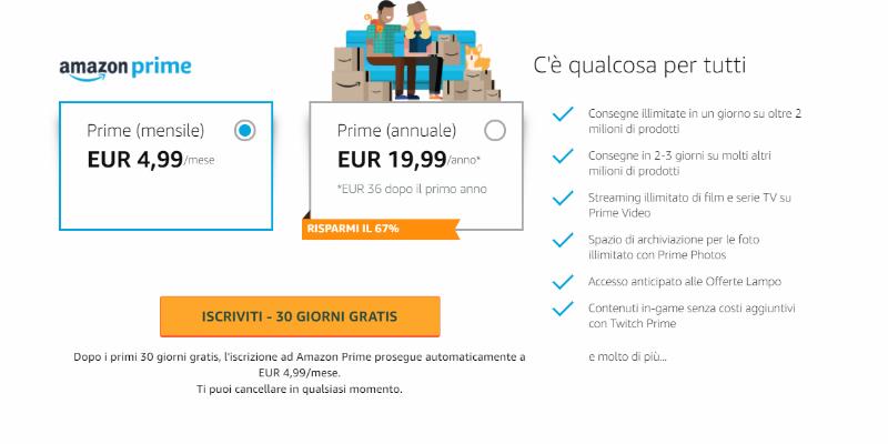 Amazon aumenta i prezzi