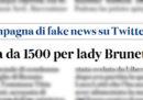 Tommasa Giovannoni, moglie di Renato Brunetta, è stata condannata per un tweet diffamatorio nei confronti di Luca Lotti, dice il Messaggero
