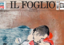 La prima pagina del Foglio col murales con Salvini e Di Maio