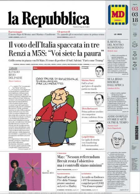 La Repubblica It Nel 2019: Le Prime Pagine Di Oggi