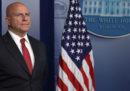 H.R. McMaster, il consigliere per la sicurezza nazionale di Trump, sarà sostituito