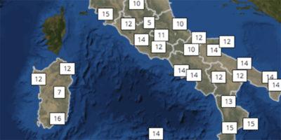 Le previsioni meteo per domenica 4 marzo in Italia