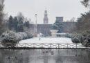 Le foto della neve a Milano