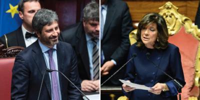 I nuovi presidenti di Camera e Senato