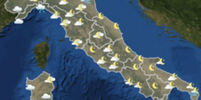 Il meteo in Italia per mercoledì 14 marzo