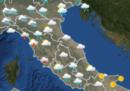 Il meteo in Italia per domani, lunedì 12 marzo