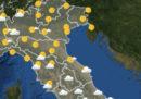 Il meteo in Italia per domani, giovedì 22 marzo