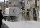 Il convoglio ONU carico di aiuti umanitari è stato costretto a lasciare Ghouta orientale (Siria) a causa dei bombardamenti