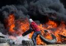 Un gruppo di palestinesi si è scontrato con l'esercito israeliano a Gaza