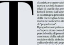 Perché si parla di un'Amaca di Michele Serra sul bullismo