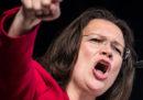 Il partito socialdemocratico tedesco ha nominato la prima presidente donna nella sua storia, Andrea Nahles
